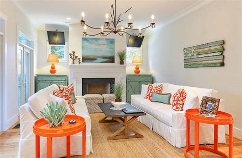 bright colored living rooms two trendy colors bright coral and light teal in the