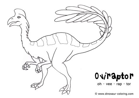 coloring pages oviraptor