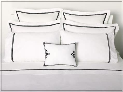 white bedding with black trim love this white with black trim bedding bedroom