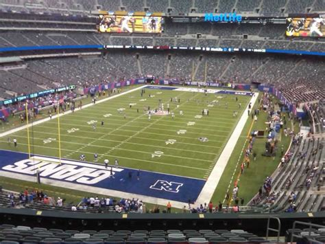 giants stadium sections metlife stadium section 249a giants jets rateyourseats com