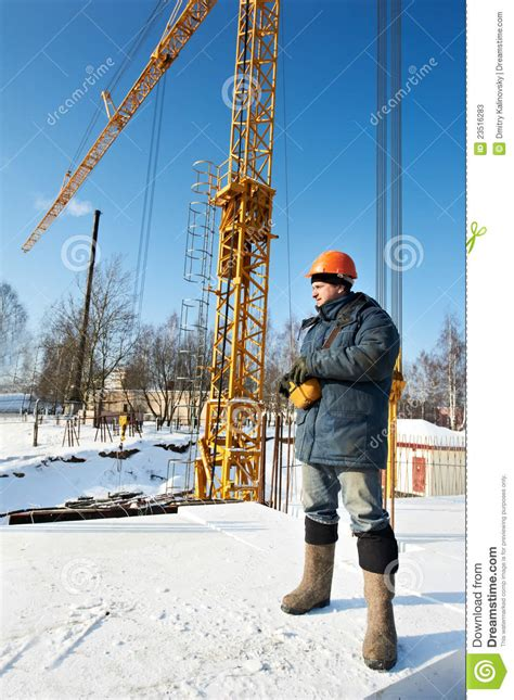 Rc Tower Crane Mainan Remote Crane worker with tower crane remote equipment stock image image 23516283