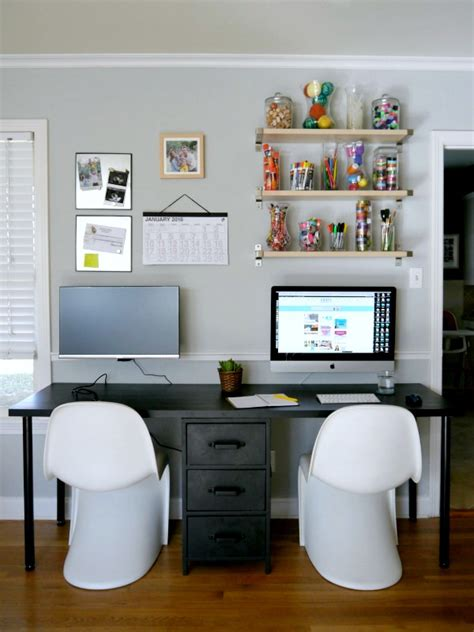 home office desk for two two person desk debut c r a f t