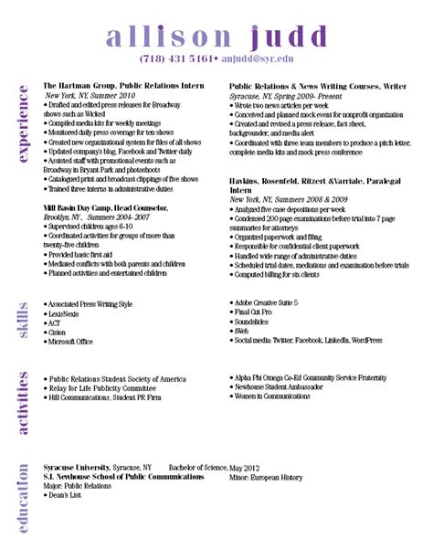 resume header sles resume project a graphic world ii