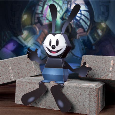 Disney 3d Papercraft - oswald the lucky rabbit 3d papercraft disney family