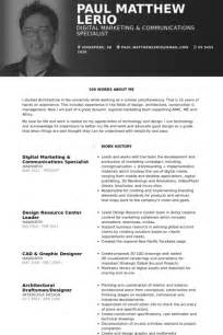 digital marketing resume template digital marketing resume sles visualcv resume sles