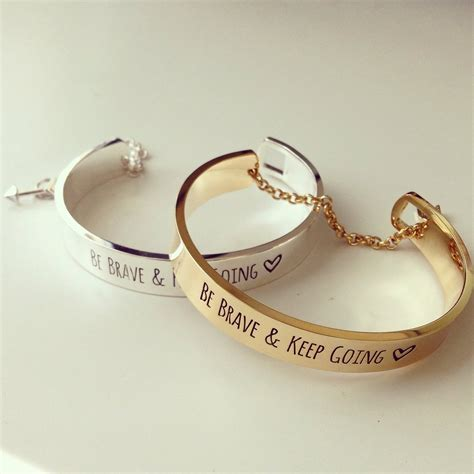 BE BRAVE & KEEP GOING BRACELET on The Hunt