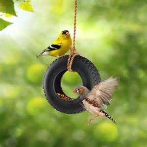 Bench Around Tree Swingtime Ceramic Tire Swing Bird Feeder The Green Head