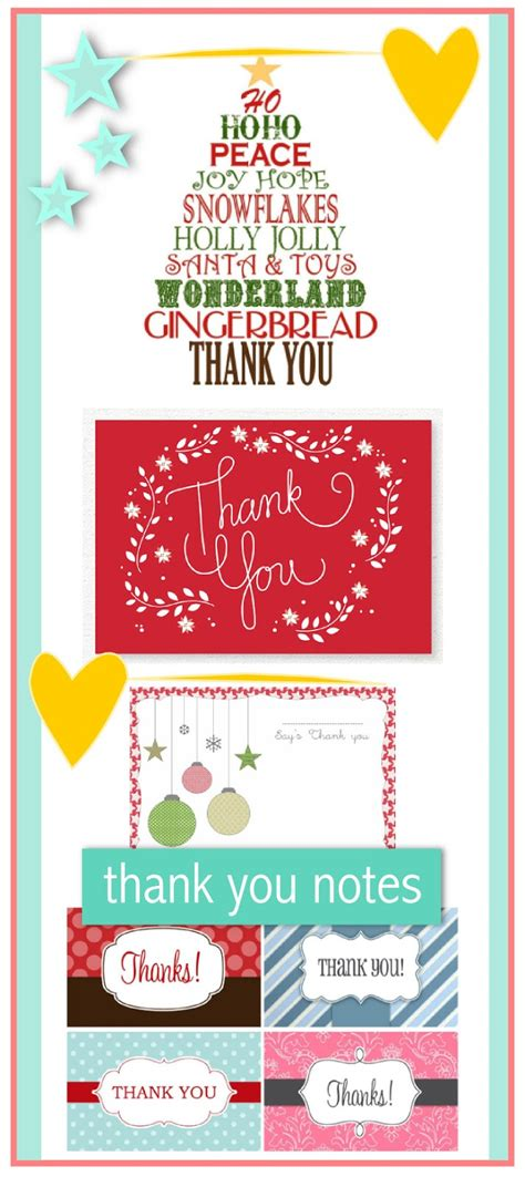 printable thank you notes uk 10 free printable christmas thank you notes