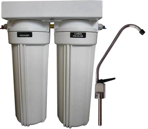 Water Filter For The Sink by Clearplus Dual Stage Sink Water Filter System