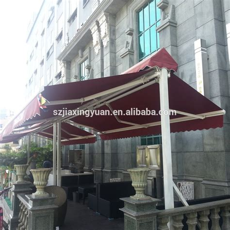 free standing retractable awning outdoor motorized free standing double side retractable