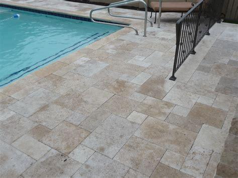 travertine pool patio area mediterranean patio
