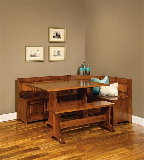 12 Cool Corner Breakfast Nook by Traditional Amish Corner Nook With Storage From