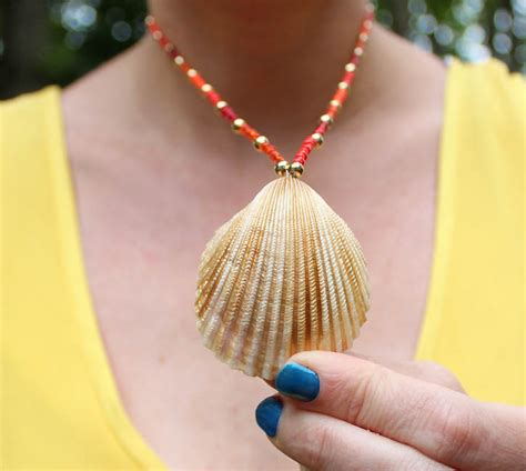 how to make seashell jewelry diy seashell necklace michele