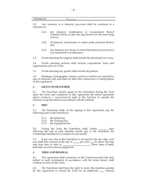 franchise agreement template uk uk franchise agreement forms and business