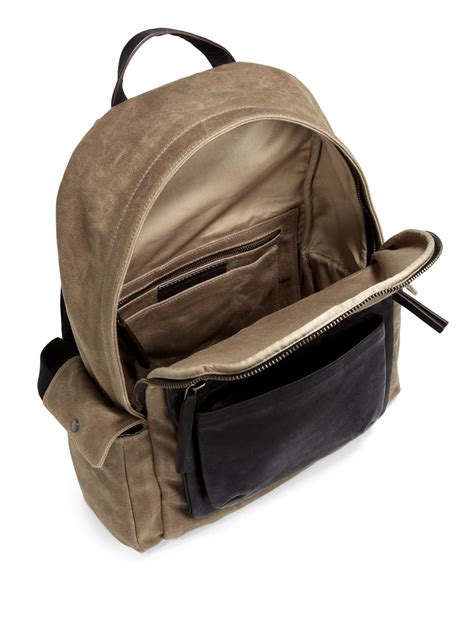 Marc By Marc Exclusive Canvas Backpack by Lyst Marc By Marc Waxed Canvas Leathertrimmed