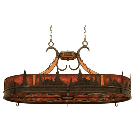 Ceiling Pot Rack With Lights Aspen Treescape 6 Light Pot Rack