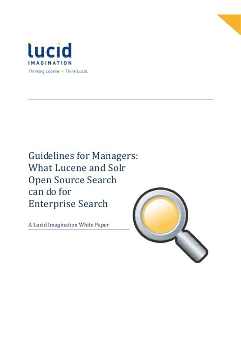 Open Source Search What Lucene And Solr Open Source Search Can Do For Enterprise Search
