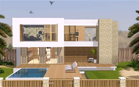 Sims 3 Modern House Floor Plans House Plans And Design Modern House Plans For The Sims 3