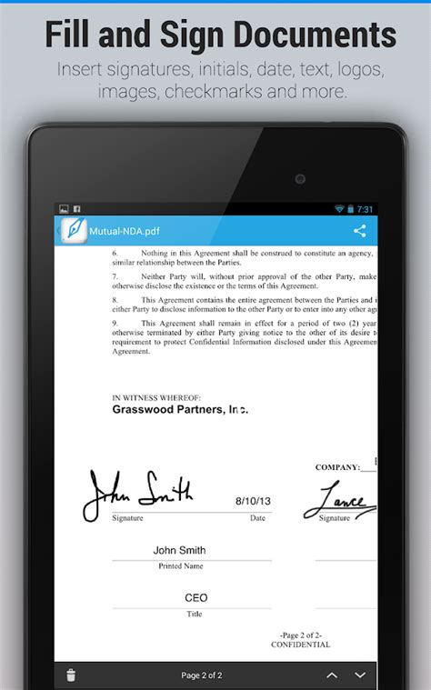 sign documents on android signeasy sign fill documents android apps on play