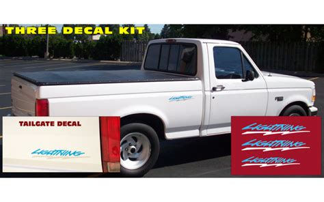 1994 ford f150 tailgate 1993 95 ford f150 lightning bed tailgate decals