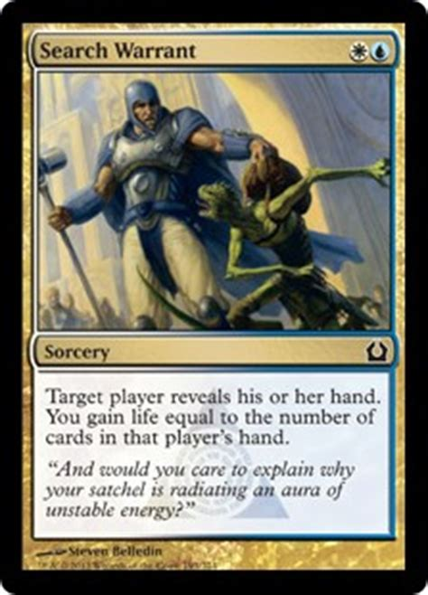 Types Of Search Warrants Search Warrant Return To Ravnica Gatherer Magic The Gathering
