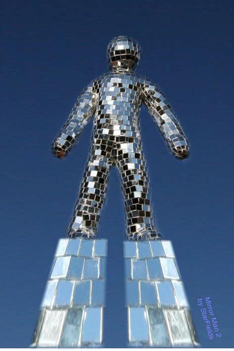 Garden Sculpture Art - mirror man 2 sculpture by starfields