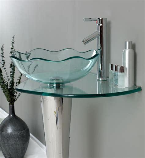 waschbecken aus glas runde waschbecken im badezimmer die wirklich cool sind