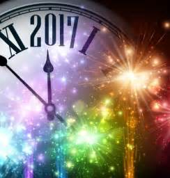 2017 new year background with spheres clock vector set 04