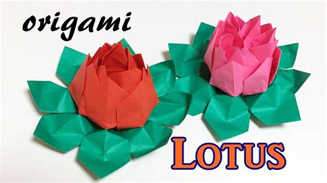 How To Make Lotus Flower Origami - origami lotus flower tutorial how to make a paper lotus