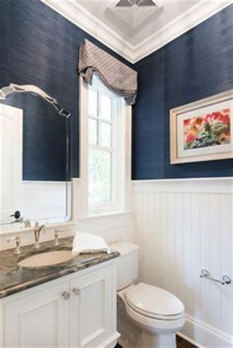 bloombety wainscoting in bathroom ideas with pale blue navy blue and white bathroom saw nail and paint