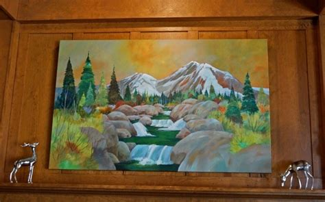 painting new 2014 new painting of mt shasta in the hotel lobby
