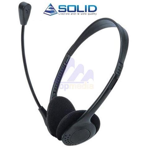 Headset Ht solid stereo headset met microfoon zwart model ht 161 headset microfoon randapparatuur