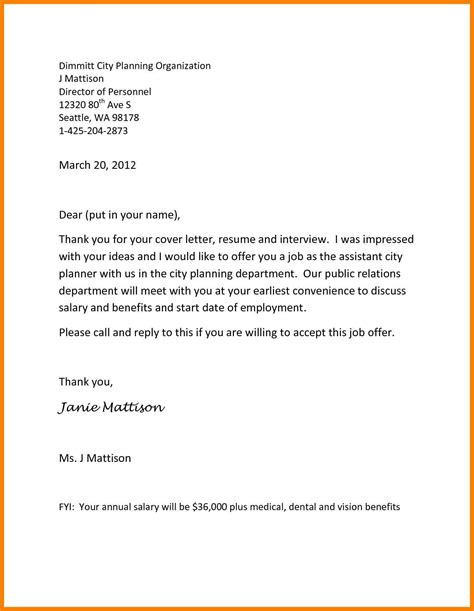 acceptance thank you letter acceptance of offer