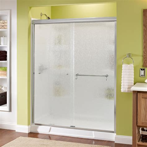 Rainx For Shower Doors Delta Portman 60 In X 70 In Semi Frameless Sliding Shower Door In Chrome With Glass