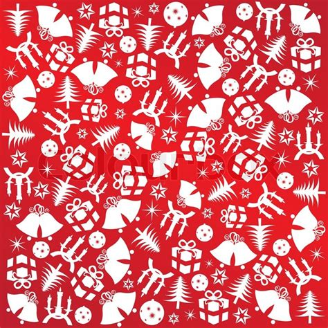 wrapping paper pattern vector christmas wrapping paper with red symbols gifts