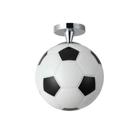 Modern Semi Flush Mount Ceiling Light with Football