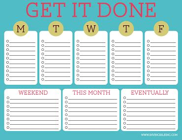 free printable to do lists cute amp colorful templates