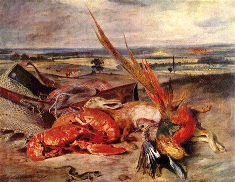 theme romantique definition still life with lobsters 1826 1827 eugene delacroix
