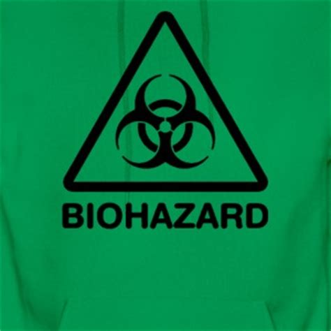 Hoodie Gold Biohazard biohazard hoodies sweatshirts spreadshirt