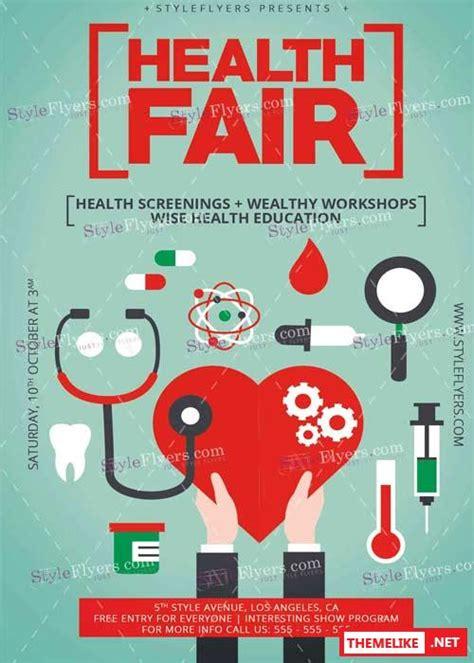 templates for health fair flyers health fair psd v6 flyer template all design template