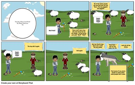 printable version of the boy who cried wolf the boy who cried wolf storyboard by blakepatterson