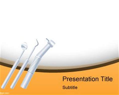 dentist instruments powerpoint template ppt template