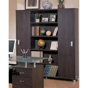 Modern Bookcase With Doors Decarie Contemporary Bookcase With Sliding Doors Ugalleryfurniture