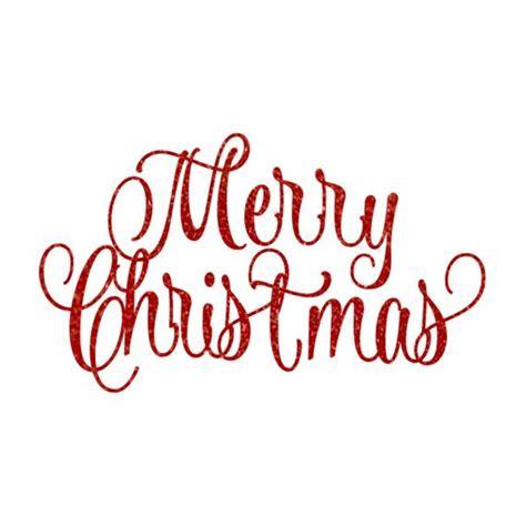 merry christmas glitter script lettering holiday vinyl
