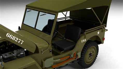 jeep open full w chassis jeep willys mb military top by