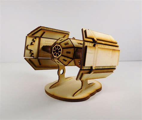 Wooden Notebook Starwars laser cut wars spaceship models technabob