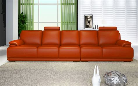 canape droit cuir salon orange canape cuir