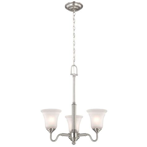 commercial electric 5 light chandelier commercial electric 3 light brushed nickel chandelier