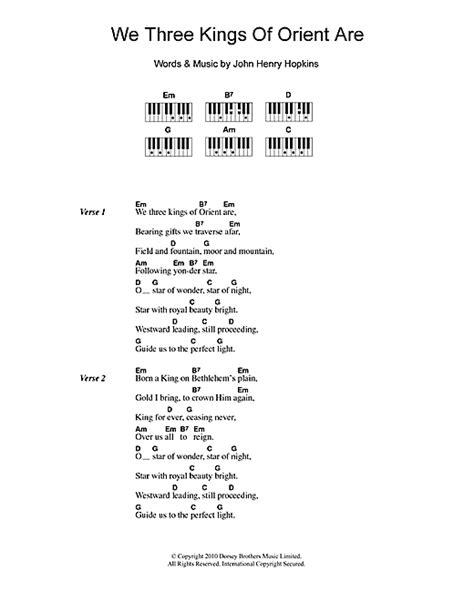 and free testo we three of orient are partituras por