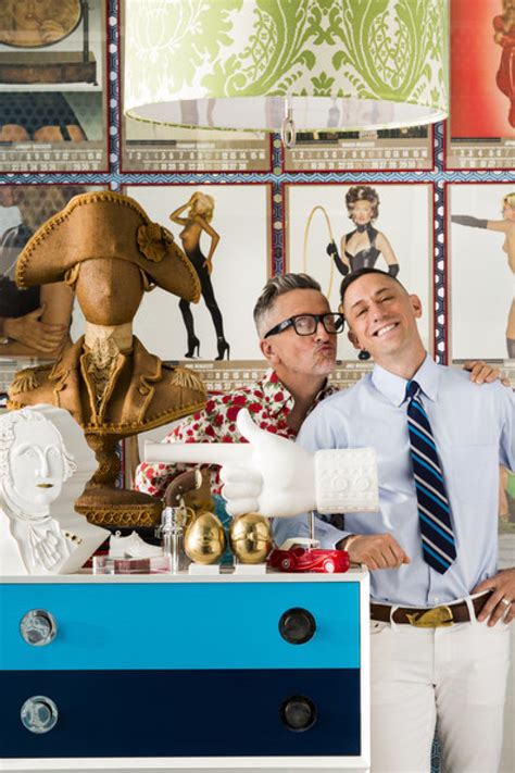 jonathan adler designer jonathan adler and simon doonan show off their new york